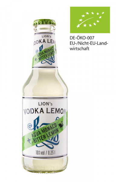 Lions Vodka Lemon Bottled Longdrink - 0,25L 10% vol