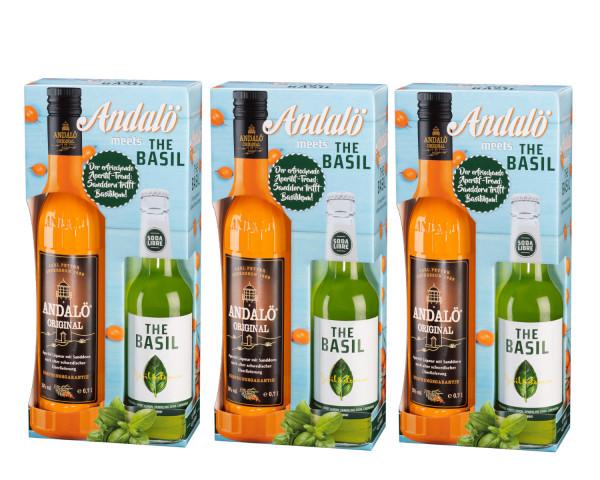SET: 3 x Andalö Original 0,7L + The Basil Limonade 0,33L - 3,09L 15% vol
