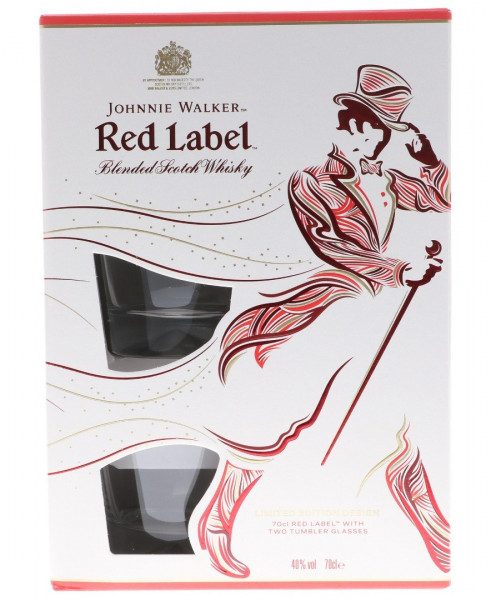 Johnnie Walker Red Label GEPA mit 2 Gläsern - 0,7L 40% vol