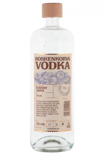 Koskenkorva Blueberry Juniper Flavoured Vodka - 1 Liter 37,5% vol
