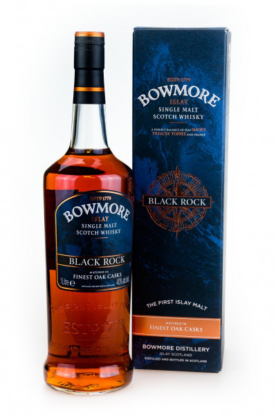 Bowmore Black Rock Islay Single Malt Scotch Whisky - 1 Liter 40% vol