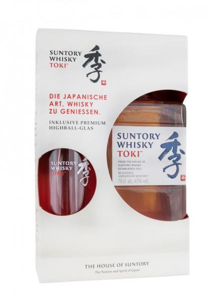 Suntory Toki Blended Japanese Whisky + Highball Glas - 0,7L 43% vol