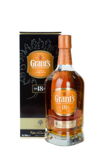 Grants 18 Jahre Blended Scotch Whisky - 0,7L 40% vol