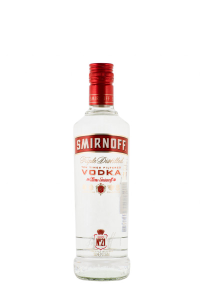 Smirnoff Red Label Vodka - 0,5L 37,5% vol