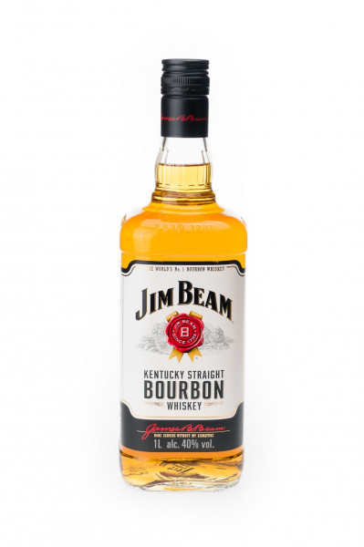 Jim Beam Kentucky Straight Bourbon Whiskey - 1 Liter 40% vol