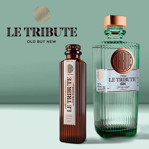 Set: Le Tribute Gin (0,7L) + Le Tribute Tonic Water (0,2L)