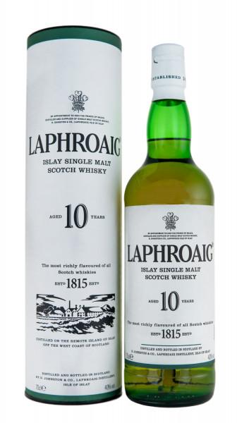 Laphroaig Whisky 10 Jahre Islay Single Malt Scotch - 0,7L 40% vol