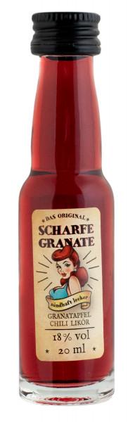 Scharfe Granate Granatapfel Chili Likör - 0,02L 18% vol