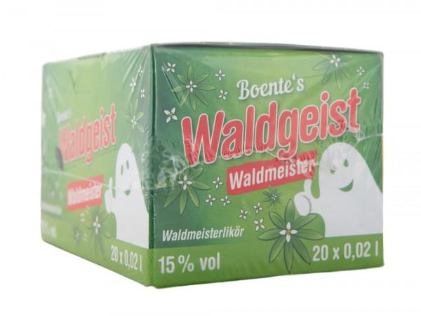 Paket [20 x 0,02L] Boentes Waldgeist Waldmeisterlikör - 0,4L 15% vol