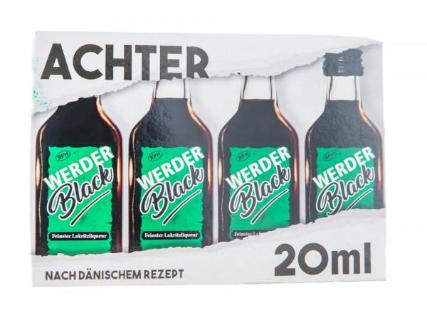 Paket [8 x 0,02L] Werderblack Lakritz-Likör - 0,16L 21,5% vol