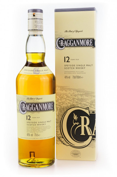 Cragganmore 12 Jahre Speyside Single Malt Scotch Whisky - 0,7L 40% vol