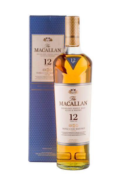 Macallan 12 Jahre Triple Cask Single Malt Scotch Whisky - 0,7L 40% vol