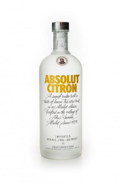 Absolut Citron Flavoured Vodka - 1 Liter 40% vol