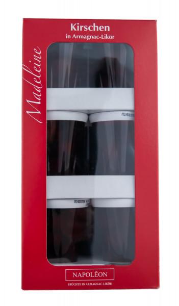 Paket [9 x 0,04L] Madeleine Kirschen in Armagnac Likör - 0,36L 16% vol