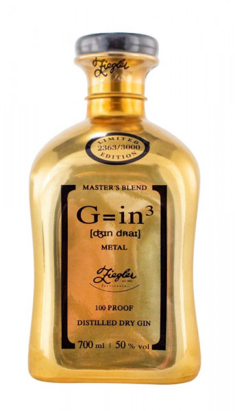 Ziegler Gin 3 Metal Gold - 0,7L 50% vol