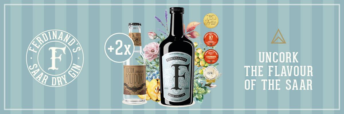 SET: Ferdinands Saar Dry Gin 0,5L + 2 Doctor Polidori Dry Tonic 0,2 L