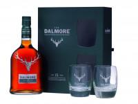 Dalmore 15 Jahre Single Malt Scotch Whisky Geschenkpackung mit zwei Gläsern - 0,7L 40% vol