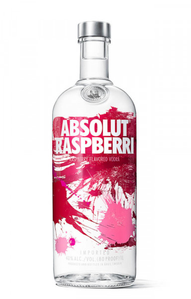Absolut Raspberry Flavoured Vodka - 1 Liter 40% vol