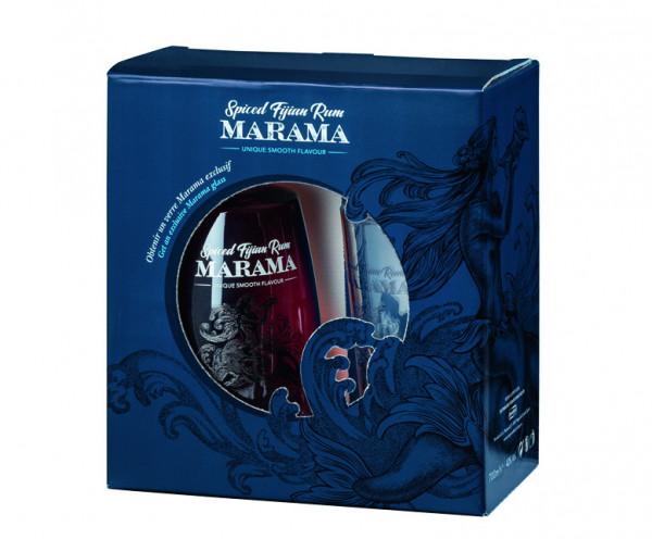 Marama Spiced Fijian Rum mit Longdrinkglas - 0,7L 40% vol