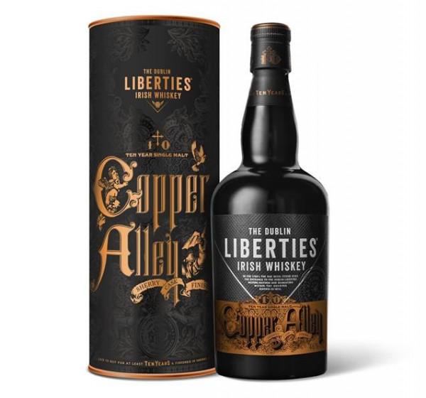 The Dublin Liberties Copper Alley 10 Jahre Single Malt Irish Whiskey - 0,7L 46% vol