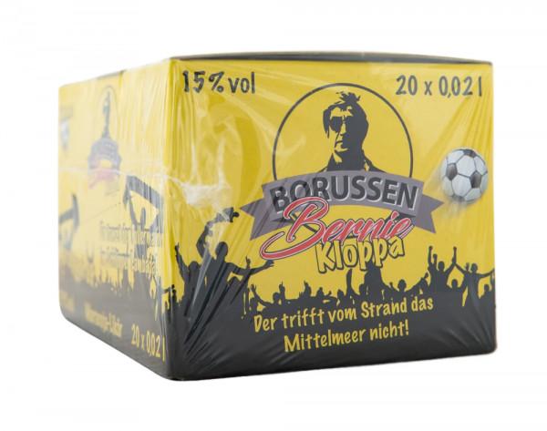 Paket [20 x 0,02L] Boentes Borussen Bernie Kloppa Likör - 0,4L 15% vol