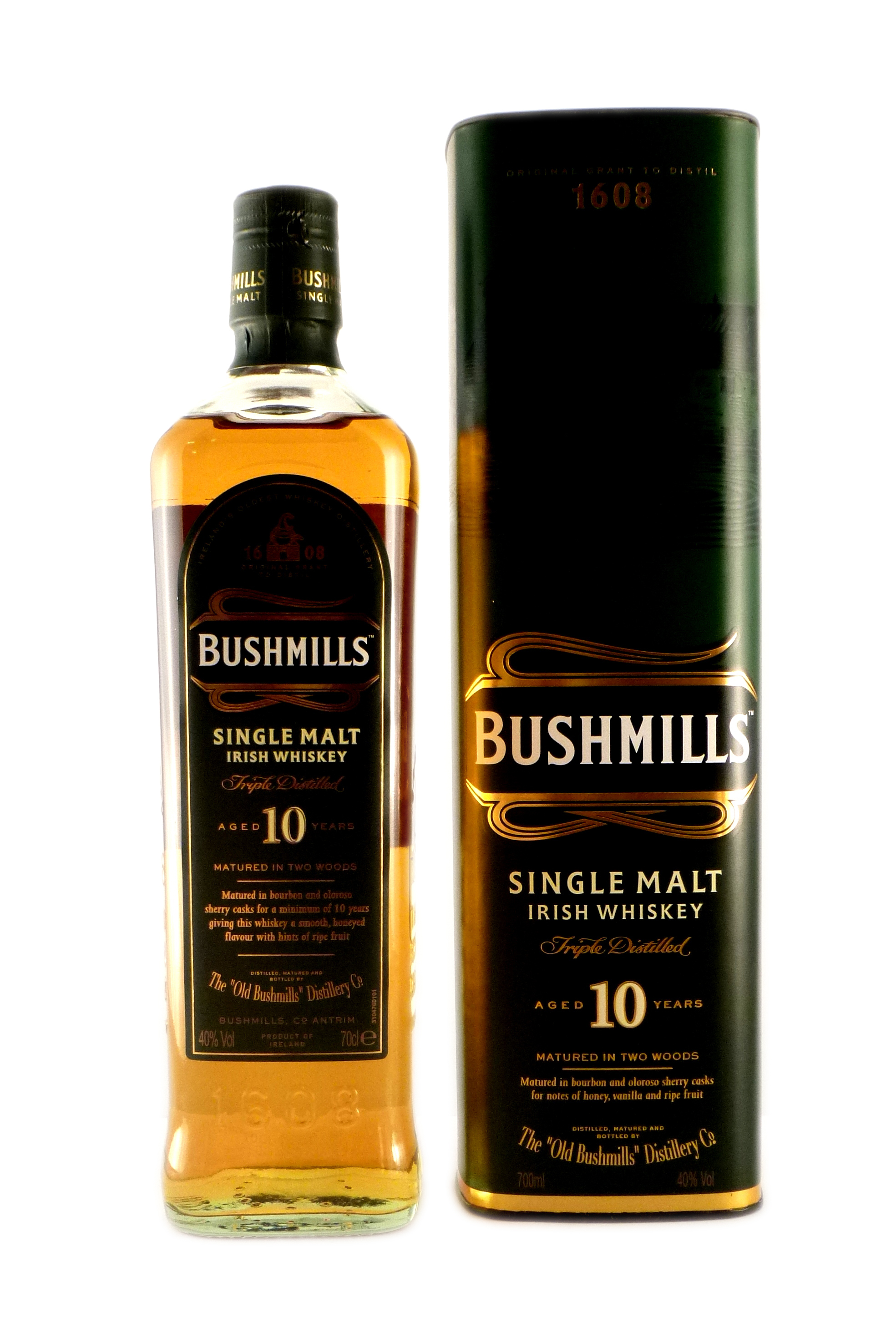 bushmills 10 jahre single malt irish whiskey kaufen ab 21 68 eur im single malt irish whiskey. Black Bedroom Furniture Sets. Home Design Ideas
