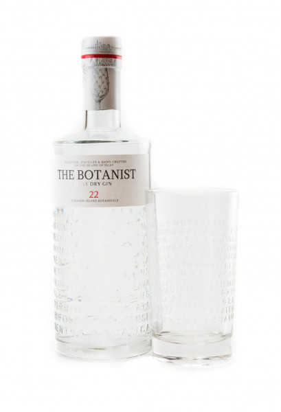 Set: The Botanist Islay Dry Gin + Longdrink-Glas - 0,7L 46% vol