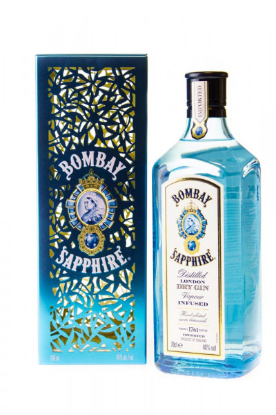 Bombay Sapphire London Dry Gin in Geschenkpackung - 0,7L 40% vol