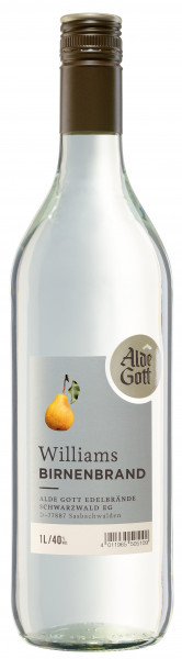 Alde Gott Williams Birnenbrand - 1 Liter 40% vol