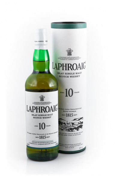 Laphroaig Whisky 10 Jahre Islay Single Malt Scotch - 0,7L 40% vol