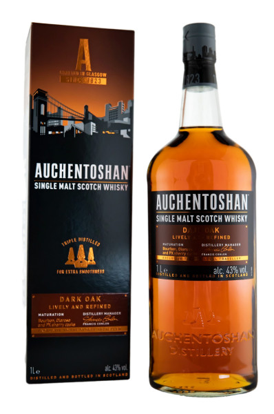 Auchentoshan Dark Oak Single Malt Scotch Whisky - 1 Liter 43% vol