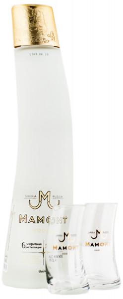 Mamont Vodka + 2 Gläser - 0,7L 40% vol
