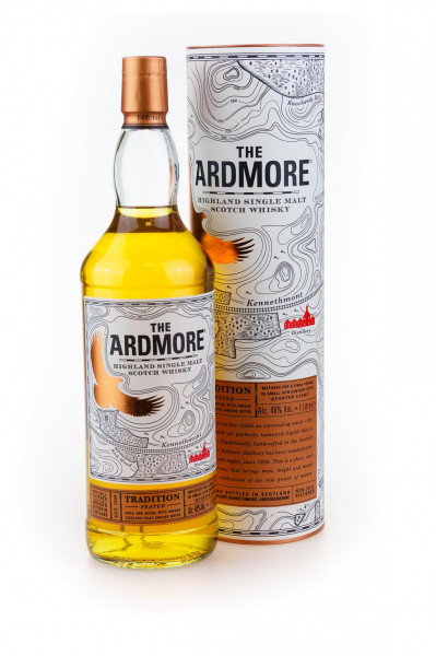 Ardmore Tradition Peated Highland Single Malt Scotch Whisky - 1 Liter 40% vol