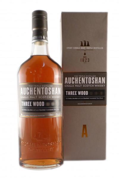 Auchentoshan Three Wood Scotch Single Malt Whisky - 43% vol - (0,7L)