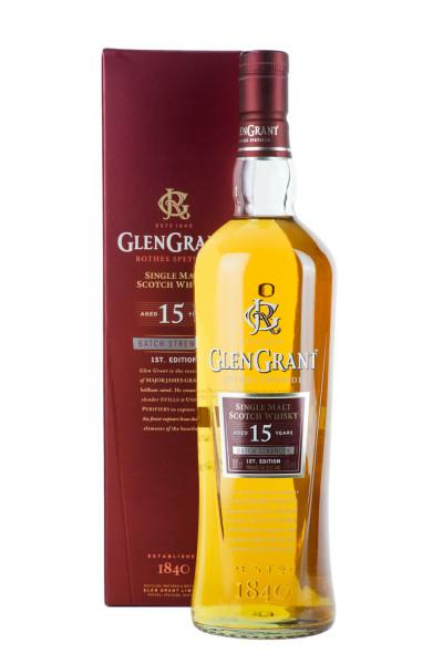 Glen Grant 15 Jahre Highland Single Malt Scotch Whisky - 1 Liter 50% vol