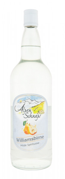 Alpenschnaps Steinbeisser Williamsbirnenaroma - 1 Liter 35% vol