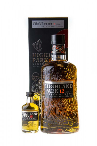 Highland Park 12 Jahre in Geschenkverpackung mit Miniatur - 0,7L 40% vol