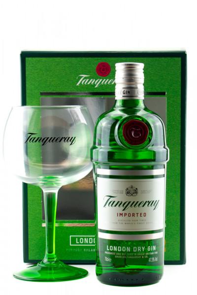 Tanqueray GEPA mit Copa Glas - 0,7L 47,3% vol