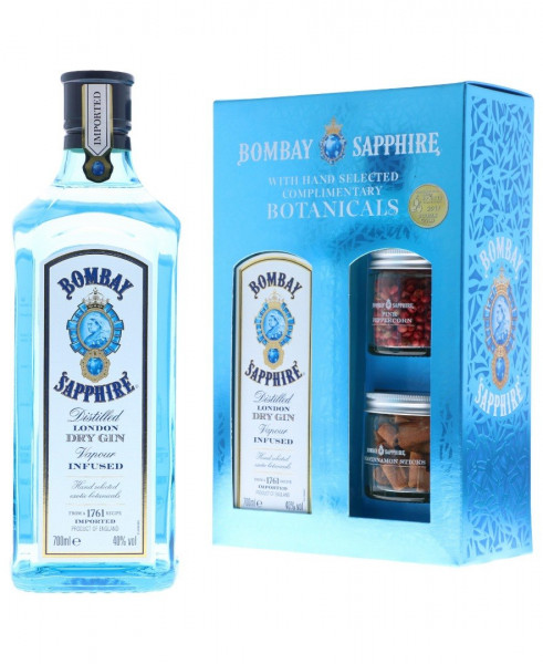 Bombay Sapphire GEPA mit Botanicals - 0,7L 40% vol
