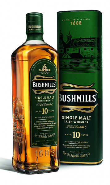 Bushmills 10 Jahre Single Malt Irish Whiskey - 0,7L 40% vol