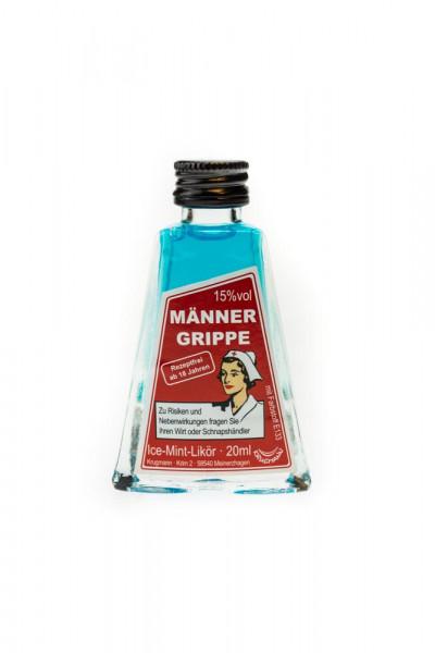 Männergrippe Ice-Mint-Likör - 0,02L 15% vol