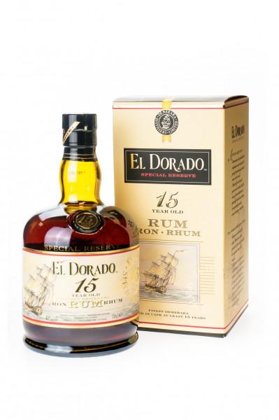 El Dorado 15 Jahre Finest Demerara Rum - 0,7L 43% vol