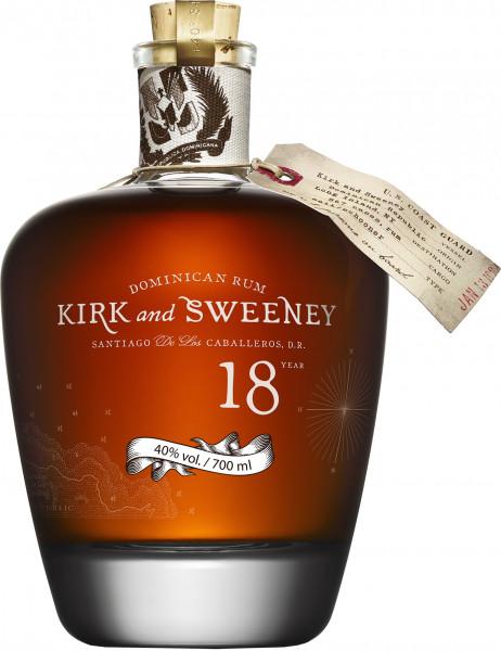 Kirk & Sweeney 18 Jahre Rum - 0,7L 40% vol