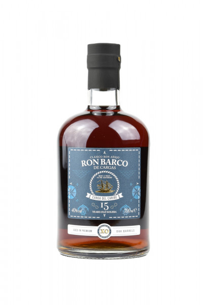 Ron Barco de Cargas 15 Jahre Solera Rum - 0,7L 40% vol