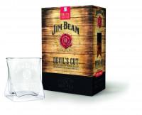 Jim Beam Devils Cut Bourbon Whiskey mit Geschenkpackung - 0,7L 45% vol