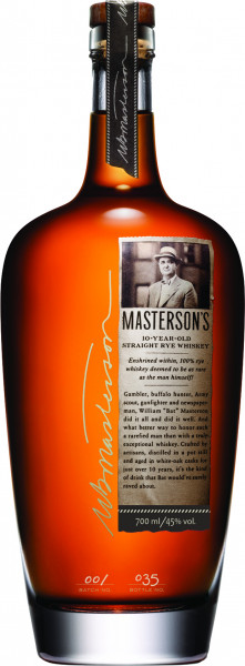 Mastersons 10 Jahre Straight Rye Whiskey - 0,7L 45% vol