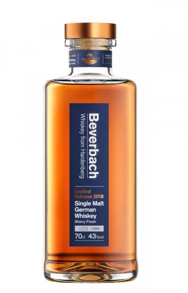 Beverbach Single Malt German Whiskey Limited Release 2018 - 0,7L 43% vol