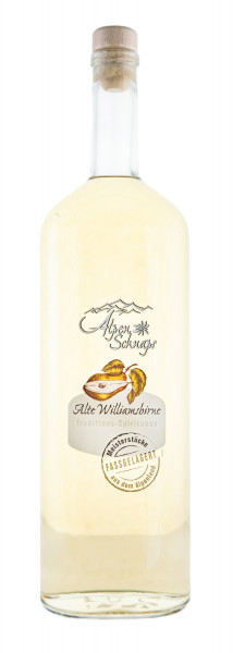 Alpenschnaps Alte Williamsbirne Fassgelagert - 1 Liter 41,8% vol