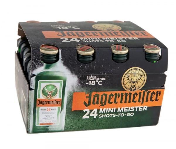 Paket [24 x 0,02L] Jägermeister Kräuterlikör - 0,48L 35% vol