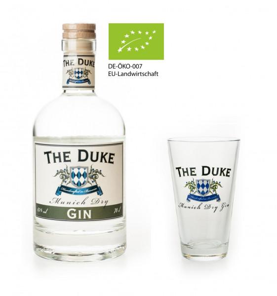 Set: Glas + The Duke Munich Dry Gin - 0,7L 45% vol